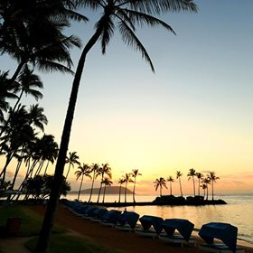 The Kahala Beach at Sunrise